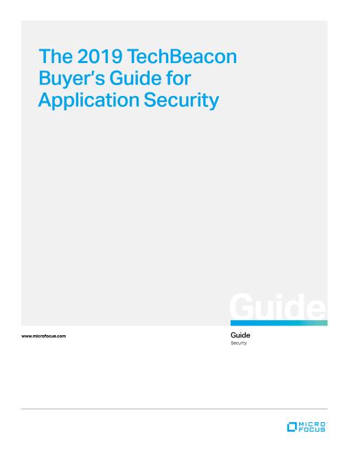 Gartner 2019 Magic Quadrant for Application Security Testing